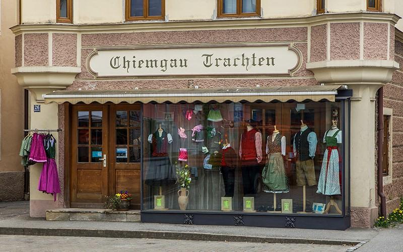Außenansacht Trachtengeschäft Chiemgau Trachten